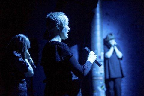 KONSERT OG PROGRAMSLIPP: Live Maria Roggen, vokalist i Come Shine har konsert i forbindelse med offentliggjøring av AnJazzprogrammet. Foto: Cornelius Poppe/Scanpix