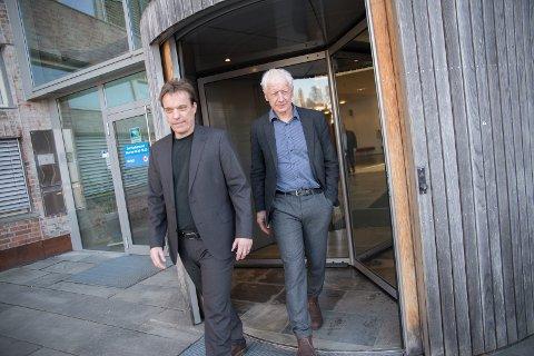 I PLUSS: Rådmann Bjørn Gudbjørgsrud og ordfører Einar Busterud styrer en kommune som går i pluss.