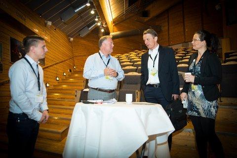 FORUM: Stian Henriksen (Lean Forum/C2U), Oddbjørn Maurdalen (Lean Forum Innlandet/Furnes Jermstøperi), Ole Enger og Eli Bryhni (Hamarregionen Utvikling).