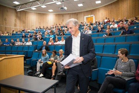 I HAMAR: Jonas Gahr Støre valgte Campus Hamar for å presentere Arbeiderpartiets skolesatsing for de neste fire årene.