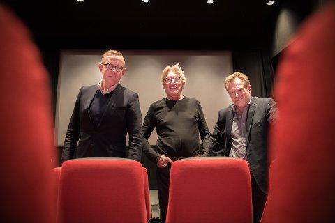 LØFT: Styreleder Tor Rullestad, nyansatt filmfestivalsjef Bjarte Ytre-Arne og kinosjef Espen Jørgensen håper på et løft av Hamarrama.
