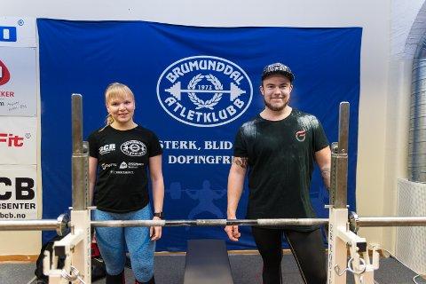 LØFTEPAR: Nora Sandseter og Tor Eivind Høyne reiser fra Moelv og Gjøvik for å trene.