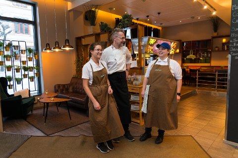 IGANG: Martine Engen, WolfgangZlamalik og Lise Gundersen er allerede igang med Capreso.
