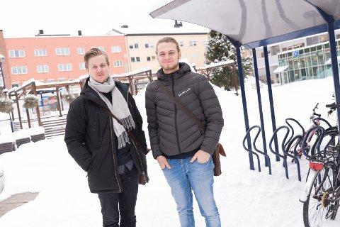 LAGER FEST: Philip Sten Bøckman og Scott Bækkel skal lage historiens første store russetreff i Hamar.