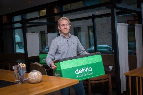 VIL EKSPANDERE: Alexander Vold håper å ta Delivia ut til de andre mjøsbyene raskt.