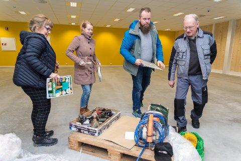 BUTIKKER: I april starter de opp sine butikker, f.v. Petra Orgre, Jeanette Granheim Nielsen, Rune Moen og Knut T. Pettersen.