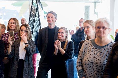 VANT: Rune Veile og Sara Buhl Bjelke fra Urban Power hadde tatt turen opp fra København.