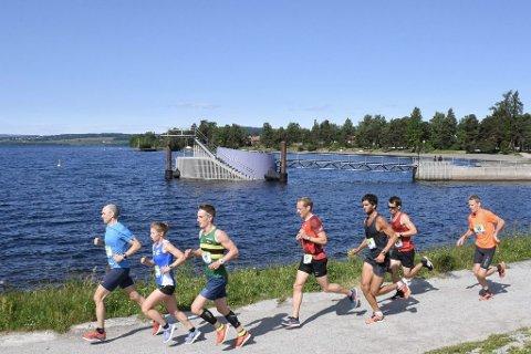 IDYLL: H3 Hamar Hoka Maraton ble en suksess i fjor, og løperne fikk oppleve idyllen langs Mjøsa under løpeturen.