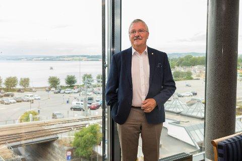 GODE UTSIKTER: Konsernsjef Richard Heiberg hos Sparebank 1 Østlandet leverer rekordoverskudd i første halvår.