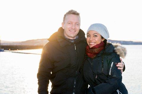 SAMMEN: Kjetil Grøsland fant kjærligheten med Ana Venegas. Nå er hun i Hamar på besøk i Kjetils hjemby.
