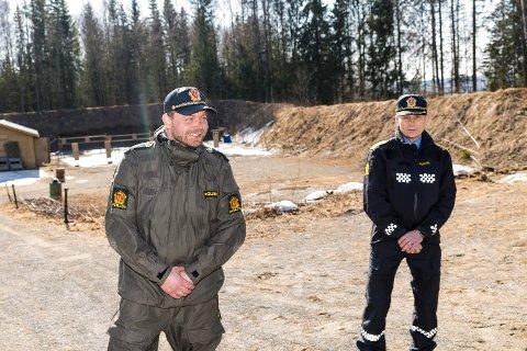 RASK START: Dan er nå midlertidig ansatt i Innlandet Politidistrikt, og skal hjelpe til med grensekontroll. Politimester Johan Brekke er glad for tilskuddet.