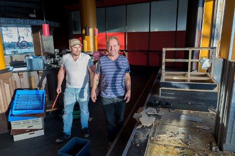 RIVER: Kenneth Sjonfjell og Remo Andre Martinsen la ned mange dugnadstimer da de bygget Heia Hamar i 2016.