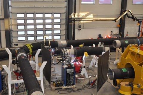 KVALIFISERT INDUSTRI: Fra Hammerfest Industriservice som nå produserer kortreist havbunnsutstyr for oljeindustrien.