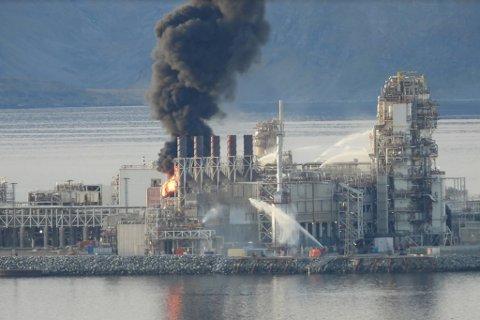 UKLART SLUTTREGNSKAP: Equinor taper penger etter brannen på Melkøya, men begrenser tapet med forsikringer.