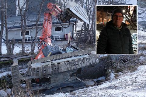 FLERE ULYKKER: Det er ikke første gang noe lignende har skjedd i nabolaget, sier Gunnar.