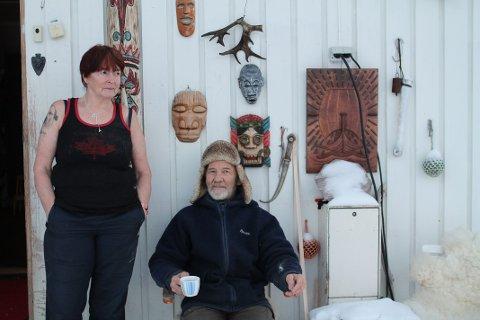 BYGD I KRIG: Ingrid Goin og Arnold Bjørnå har ikke fått mye fred siden de flyttet inn i 2001.