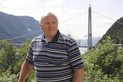 Deildo: Styreleiar i Hardangerbrua AS, Einar Lutro, er uroa over mykje stengd veg ved Deildo på RV 13. Og at dette kan føra til endra trafikkmønster. Arkivfoto: Eivind Dahle Sjåstad