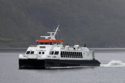 NY BÅT I RUTE: Frå 1. mai 2018 er det MS Teisten som skal trafikkera ruta Lofthus – Utne – Herand – Norheimsund – Kinsarvik – Ulvik – Eidfjord.