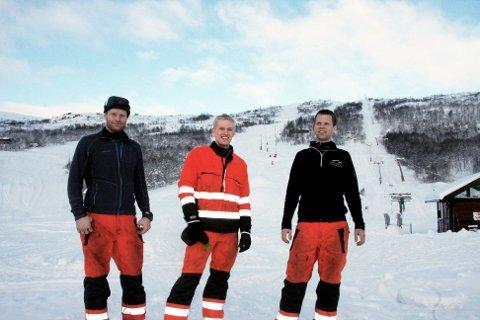 Kommunestyret i Eidfjord sa måndag ja til ny toårig avtale med Hardangervidda Ski og Fjellsport AS. Selskapet vert eigd av Asbjørn Riber (ikkje tilstades då biletet vart teke), Arve Riber, Øystein Myklatun og Sondre Myrvang.