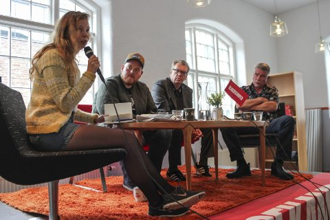 Klassekampen i Odda: Ordstyrar Maria Dyrhol Sandvik, Jan Kristoffer Dale, Frode Grytten, Terje Kollbotn