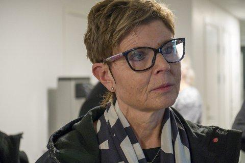 Anne Gine Hestetun (ap): Fylkesordføraren under eit besøk i Odda sist onsdag. foto: Arja Wiik-Hansen