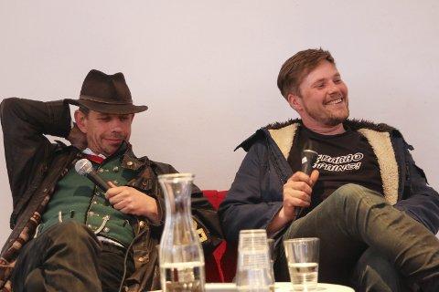Tar festen hjem til Odda: Leif Einar Lothe og Joar Førde fra TV-serien «Fjorden Cowboys». Arkivfoto: Eivind Dahle Sjåstad