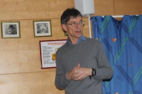 Arealplanlegger Peter Sonnenberg orienterte om høringsutkastet i Boliden sin kantina denne uka.