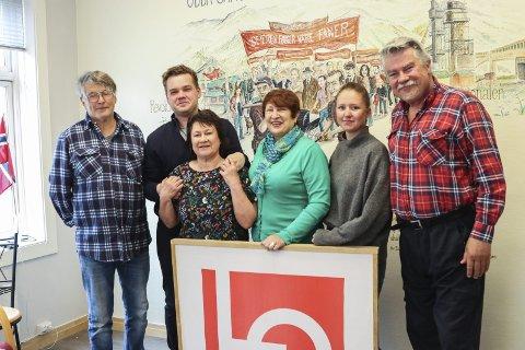 LO-gjengen: F.v.: Leif Hernes, Andreas Jacobsen, Dijana M. Saga, Ingunn Olsen Mossefin, Veronica Tellevik Vaberg og Terje Kollbotn.  Foto: Inga Øygard Jaastad