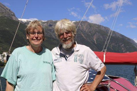 Kom via sjøvegen: Petra og Edgar frå Hamburg.