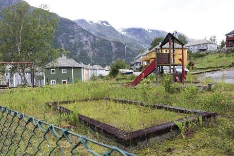 Burde rivast: - Denne leikeplassen burde vore riven på grunn av rasfare», heiter det i framlegget til hovudplan for park. foto: synnøve nyheim