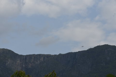 Sea King over Lofthus. Foto: Eli Lund