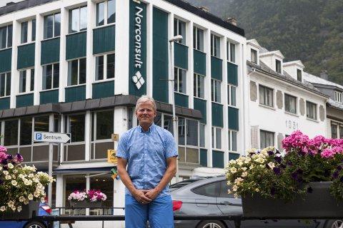 Norconsult: Dei tilsette i Norconsult Hardanger og Voss kan snart få seks nye kollegaer, opplyser kontorsjef Endre Lægreid.Foto: Sondre Lingås Haukedal