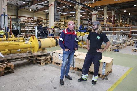 Nytilsett: Dagleg leiar Ingvald Torblå og nytilsett industrimekanikar Håvard Kvåle.alle foto: Synnøve nyheim