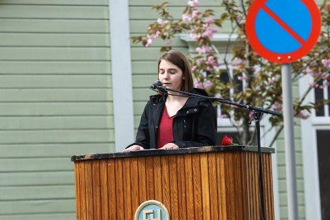 Klimastreik: Nina Haug håpar mange elevar tek del i klimastreiken fredag.Foto: Inga Øygard Jaastad