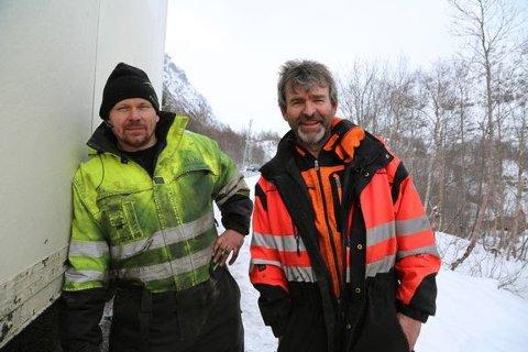 Thord og Bjørn på felles oppdrag. «Vinterveiens helter» sesong 4 har premiere torsdag 3. oktober .