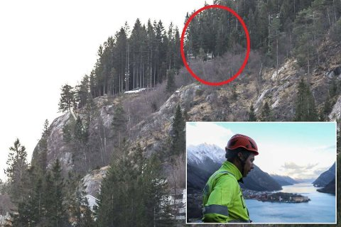 Høyt: I skogen over Kleivavegen på Kalvanes er Røynstrand Entreprenør AS i gang med forberedelsene.