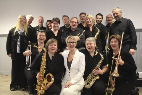 Hardanger Big Band spilte på Vossa Jazz i 2019.