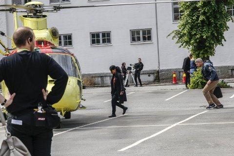 Filminnspeling: Sommaren 2017 var prega av filminnspeling i Hardanger. Her vart ei av scenene til filmen Torden spelt inn ved Odda barneskole. arkivfoto: Synnøve Nyheim