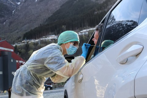 Bygdarbøen smitteklinikk i Odda opplever den travlaste dagen så langt under pandemien. Arkivfoto: Eivind Dahle Sjåstad