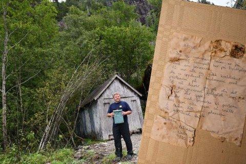 FINNEREN: Dagens eier av gården, Anders Gavle, fant brevet som ble lagt i postkassen i forrige århundre.
