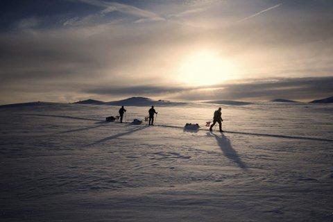 Pulkløp: Normal avgang for løpet er Haukeliseter, med målgang i Eidfjord. No er det klart at løpet vert lagt ned.