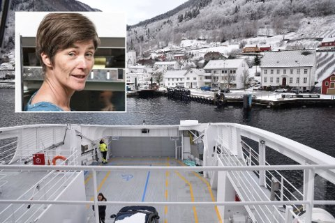 Gunnhild Jaastad pendlar til jobb med ferje. Ho er kjempenøgd med Stortinget sitt vedtak.