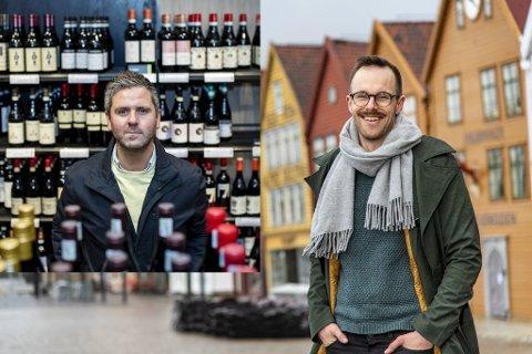Eivind Nævdal-Bolstad (innfelt) er vinelsker og engasjerte seg i vinmonopolets fremtid. Jarle Brattespe er en strateg, mener BAs politiske journalist.
