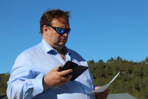 Ordførar Roald Aga Haug har ei oppmoding til innbyggjarane.