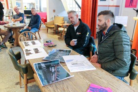 Leif Einar Lothe og kompanjong Martin Mikkelsen Heggøy orienterte om status i planane sine på fredagens Smelteverkslunsj.