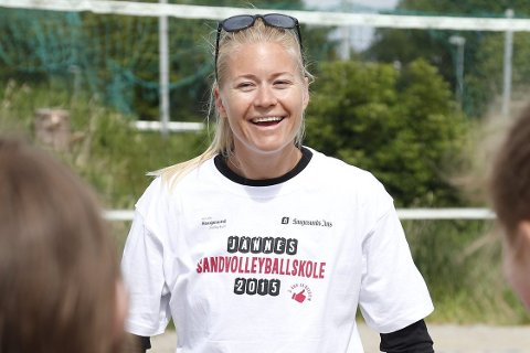 Klar: Janne Kongshavn Hordvik kan koste på seg et smil etter at EM-billetten nå er i boks. FOTO: ALF-Robert SOMMERBAKK