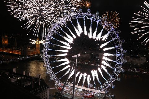 NYTTÅRSFEIRING: Bildet ble tatt 1. januar 2012. Foto: Scanpix