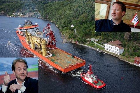 Kjell Inge Røkkes Aker går inn i Solstad med til sammen en halv milliard kroner. (Skipsfoto: Bernt Sortland)