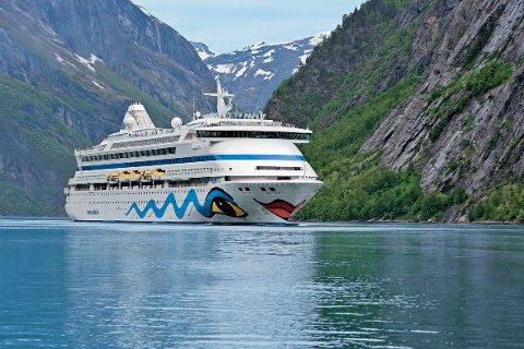 KOMMER TIL HAUGESUND: Det tyske cruiseskipet AIDAvita kommer til Haugesund på onsdag.
