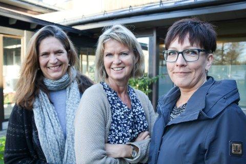 FEST FOR BLEST: Trioen som skal skape stemning i Tysværtunet under bLest. F.v.: Bjørg Rørtveit, Marit Lothe og Lillian Rushfeldt.